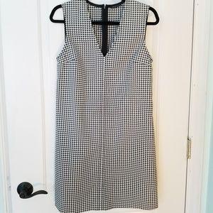 Theory Dress Designer Sample Houndstooth Black 6